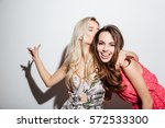 portrait of two best female... | Shutterstock . vector #572533300