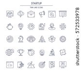 start up thin line icons set.... | Shutterstock .eps vector #572533978