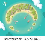 vector illustration. island top ... | Shutterstock .eps vector #572534020