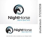 horse logo template design... | Shutterstock .eps vector #572535058