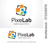 pixel lab logo template design... | Shutterstock .eps vector #572535070