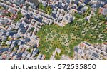 straight overhead aerial view... | Shutterstock . vector #572535850