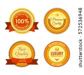 golden round reward seals... | Shutterstock .eps vector #572536948