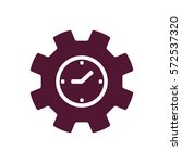 gears  icon   isolated. flat ... | Shutterstock .eps vector #572537320