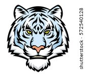 a white tiger head logo. this... | Shutterstock .eps vector #572540128