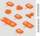 icons for social network.... | Shutterstock .eps vector #572545429