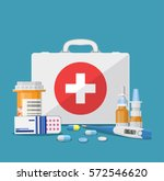 medical care concept. medical... | Shutterstock .eps vector #572546620