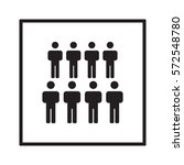people  icon vector. flat... | Shutterstock .eps vector #572548780