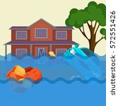 flood realistic natural... | Shutterstock .eps vector #572551426