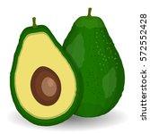 realistic vector avocados...   Shutterstock .eps vector #572552428