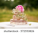 three store naked cake | Shutterstock . vector #572553826