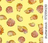 Watercolor Summer Pattern With...