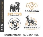 Set Logo Illustration Dog  Pet...