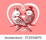 birds love logo   vector...