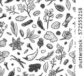 pattern with hand drawn vector... | Shutterstock .eps vector #572555218
