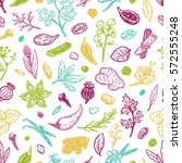 pattern with hand drawn vector... | Shutterstock .eps vector #572555248
