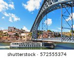 the dom luis i bridge is a... | Shutterstock . vector #572555374