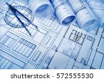 architectural project    | Shutterstock . vector #572555530