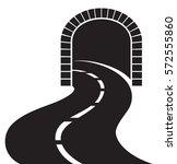 road tunnel vector illustration | Shutterstock .eps vector #572555860