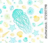Seamless Pattern With Jellyfis...