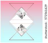 trendy geometric flat pattern ... | Shutterstock .eps vector #572561629