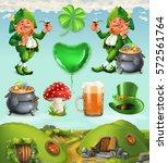 feast of saint patrick. fairy... | Shutterstock .eps vector #572561764