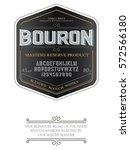typeface. label. bourbon... | Shutterstock .eps vector #572566180