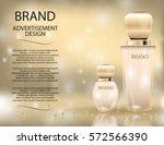 glamorous perfume glass bottles ... | Shutterstock .eps vector #572566390