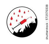 no drugs allowed syringe icon.  | Shutterstock .eps vector #572570338