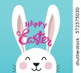 smiling cute easter bunny with... | Shutterstock .eps vector #572575030