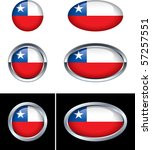 chilean flag buttons