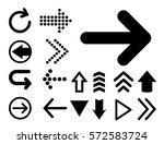 arrow vector 3d button icon set ...   Shutterstock .eps vector #572583724