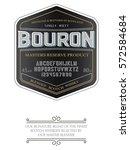 typeface. label. bourbon... | Shutterstock .eps vector #572584684