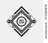 futuristic design element on... | Shutterstock .eps vector #572585878