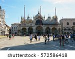 St Mark's Square Venice With S...