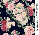 seamless floral pattern with... | Shutterstock . vector #572591710