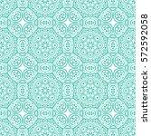 islamic pattern. arabic  indian ... | Shutterstock .eps vector #572592058