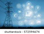 industry 4.0 concept  smart... | Shutterstock . vector #572594674