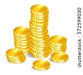 gold coins. stacks of golden... | Shutterstock .eps vector #572599030