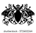 roaring panther heraldic emblem ... | Shutterstock .eps vector #572602264