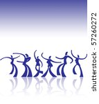 Abstract Dancers Background