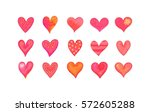horizontal greeting card with... | Shutterstock .eps vector #572605288