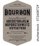 typeface. label. bourbon... | Shutterstock .eps vector #572608729