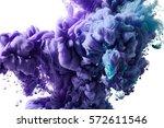 color ink drop in water   Shutterstock . vector #572611546