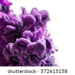 color ink drop in water | Shutterstock . vector #572615158