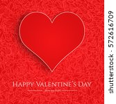 valentine's day card with red... | Shutterstock .eps vector #572616709