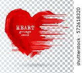 abstract heart design. grunge...