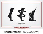 leg icon vector illustration.