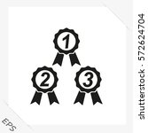 awards set icon. vector style... | Shutterstock .eps vector #572624704