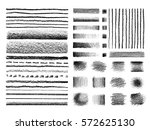set of hand drawn  textures and ... | Shutterstock .eps vector #572625130